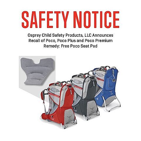Osprey child safety products recall